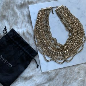 Bauble Bar // Gold Courtney Chainlink Bib Necklace